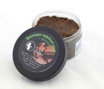 Шоколадно-кофейный скраб для тела с фукусом. 200 гр