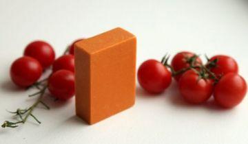 """Соляное мыло """"Летний вечер"""" с маслом бархатцев и томатами"""