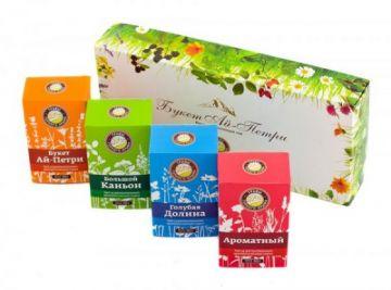 Подарочный чайный набор Букет Ай - Петри ( 4 чая по 50гр)