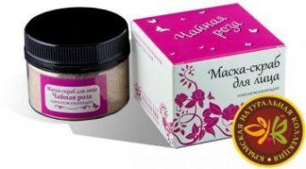 Маска-Скраб с лепестками чайной розы омолаживающая  50 гр